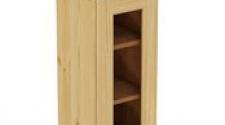 Шкаф навесной 300 х 300 х 720 под стекло, сосна, бесцветный лак