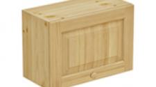 Шкаф над вытяжкой 600 х 300 х 420 филенка, сосна, бесцветный лак