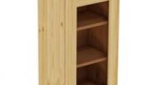 Шкаф навесной 400 х 300 х 720 под стекло, сосна, бесцветный лак