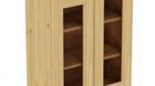 Шкаф навесной 600 х 300 х 720 под стекло, сосна, бесцветный лак