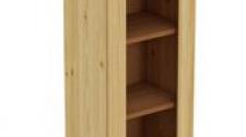 Шкаф навесной 400 х 300 х 900 под стекло, сосна, бесцветный лак