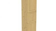 Пенал 2220 х 600 х 560 филенка, 3 двери (с полками), сосна, бесцветный лак