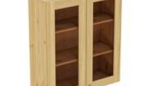 Шкаф навесной 800 х 300 х 900 под стекло, сосна, бесцветный лак