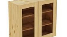 Шкаф навесной 800 х 300 х 720 под стекло,сосна, бесцветный лак