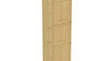 Пенал 2040 х 600 х 560 филенка, 3 двери (с полками), сосна, бесцветный лак
