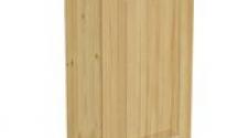 Шкаф навесной 500 х 300 х 900 филенка, сосна, бесцветный лак