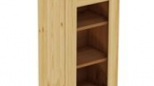 Шкаф навесной 450 х 300 х 720 под стекло, сосна, бесцветный лак