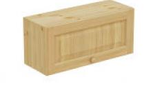 Шкаф навесной 800 х 300 х 360, сосна, бесцветный лак