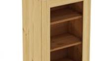 Шкаф навесной 500 х 300 х 720 под стекло, сосна, бесцветный лак