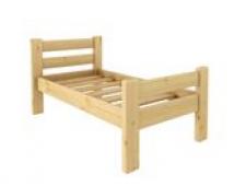 Кровать Классика 600 х 1400 сосна, бесцветный лак