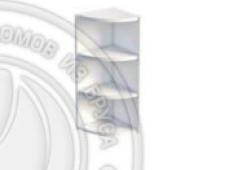 Шкаф-стеллаж заверш 280 х 280 х 720 открытый, сосна, эмаль