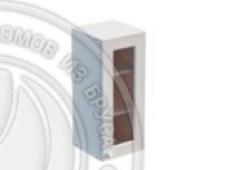 Шкаф навесной 300 х 300 х 720 под стекло, сосна, эмаль