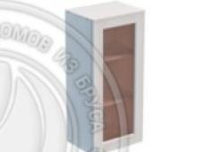 Шкаф навесной 400 х 300 х 900 под стекло, сосна, эмаль