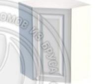 Шкаф навесной угловой 600 х 600 х 300 х 900 филенка, сосна, эмаль