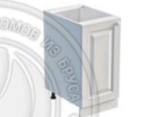 Тумба 1 дверь 450 х 560 х 720 сосна, эмаль