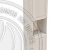 Пенал 2220 х 600 х 560 филенка, 2 двери (без полок), сосна, масло