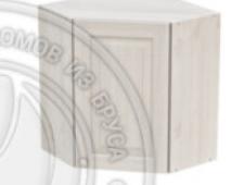 Шкаф навесной угловой 600 х 600 х 300 х 720 филенка, сосна, масло