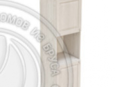 Пенал 2040 х 600 х 560 филенка, 2 двери (без полок), сосна, масло