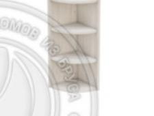 Шкаф-стеллаж заверш 280 х 280 х 720 открытый, сосна, масло