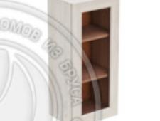 Шкаф навесной 450 х 300 х 900 под стекло, сосна, масло