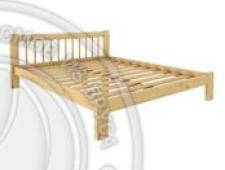 Кровать Дачная 1800 х 1900 сосна, бесцветный лак