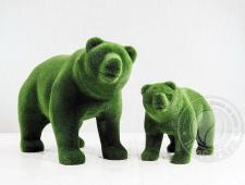 Статуя топиари - Два медведя