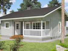 Одноэтажный дачный дом из бруса 70 мм