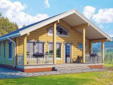 Частный дом из бруса 165мм с сауной