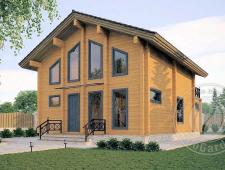 Двухэтажный дом из бруса 165 мм