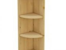 Шкаф-стеллаж заверш 280 х 280 х 900 открытый, сосна, бесцветный лак