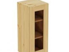 Шкаф навесной 300 х 300 х 720 под стекло, сосна, без покраски