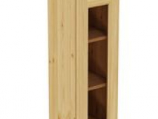 Шкаф навесной 300 х 300 х 900 под стекло, сосна, без покраски