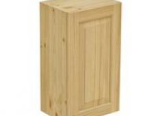 Шкаф навесной 400 х 300 х 720 филенка, сосна, бесцветный лак