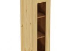 Шкаф навесной 300 х 300 х 900 под стекло, сосна, бесцветный лак