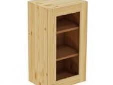 Шкаф навесной 450 х 300 х 720 филенка, сосна, бесцветный лак