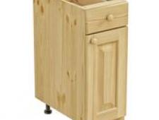 Тумба 1 дверь, 1 ящик 300 х 560 х 720 сосна, бесцветный лак