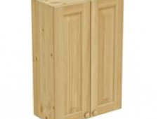 Шкаф навесной 600 х 300 х 900 филенка, сосна, бесцветный лак