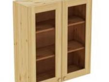 Шкаф навесной 800 х 300 х 900 под стекло, сосна, без покраски