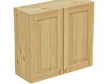 Шкаф навесной 800 х 300 х 720 филенка,сосна, бесцветный лак