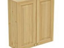 Шкаф навесной 800 х 300 х 900 филенка, сосна, бесцветный лак