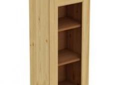 Шкаф навесной 450 х 300 х 900 под стекло, сосна, бесцветный лак