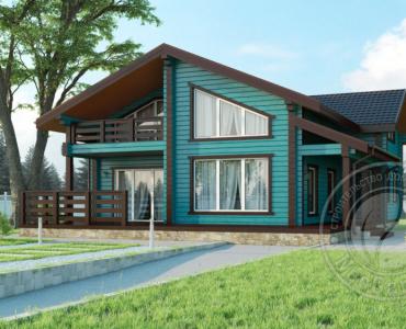 Дом 11х12 из клееного бруса