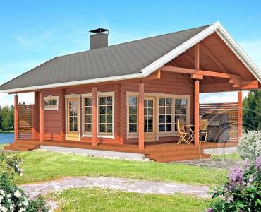 Дачный дом с мансардой из бруса 70 мм