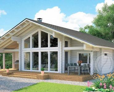 Загородный дом из бруса 165мм