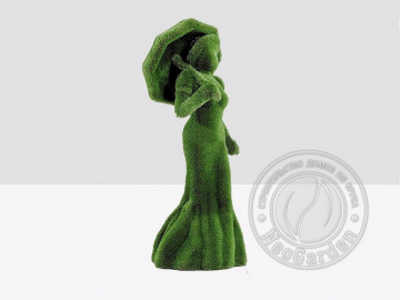 Топиари - Дама с зонтом