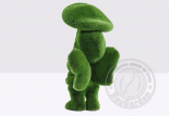 Топиар девочка с грибом