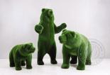 Садовая скульптура три медведя
