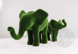 Садовая фигура слон и слонёнок