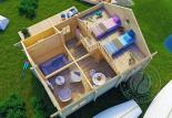 Гостевой домик из бруса 70 мм Аркона мансарда