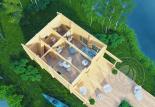 Гостевой домик из бруса 70 мм Верона 1 этаж